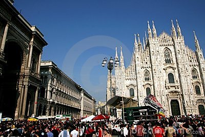 Milan, Italian Liberation Day political protest Editorial Photography