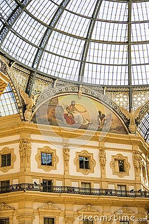 Free MILAN, ITALY - 13-05-2017: Galleria Vittorio Emanuele II In Mila Stock Image - 93093681