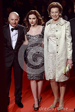 Domenico Dolce, Scarlett Johansson, Letizia Moratti attend the Extreme Beauty In Vogue party Editorial Photo