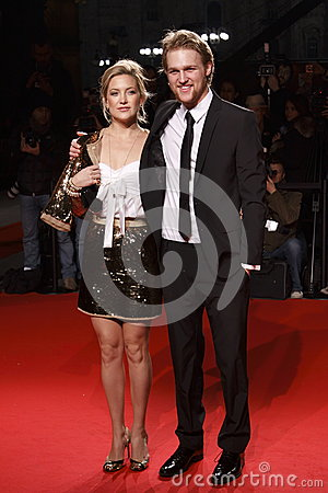 MILAN, ITALY - MARCH 02: Kate Hudson and Wyatt Russell attend the Extreme Beauty In Vogue party at the Palazzina della Ragione dur Editorial Image
