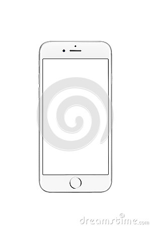 Free Milan, Italy - September 19, 2016: Front View Of Silver Apple IPhone 7 Royalty Free Stock Images - 77498349