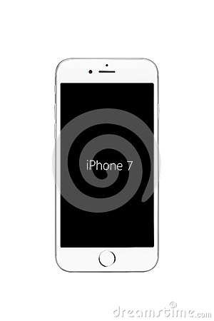 Free Milan, Italy - September 19, 2016: Front View Of Silver Apple IPhone 7 Royalty Free Stock Photo - 77499305
