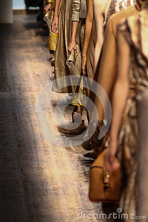 Free MILAN, ITALY - SEPTEMBER 21: Models Walk The Runway Finale During The Salvatore Ferragamo Show Stock Image - 45276871