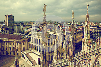 Milan, Italy. View on Royal Palace