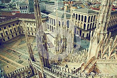 Milan, Italy. View on Royal Palace