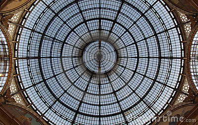 Milan Luxuous shopping mall Vittorio Emanuele