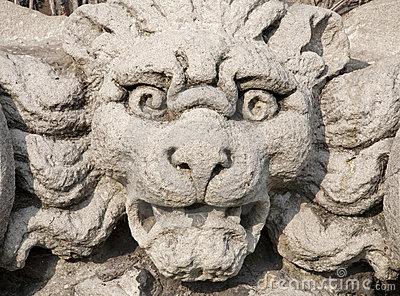Milan - monster face from Sforza castle