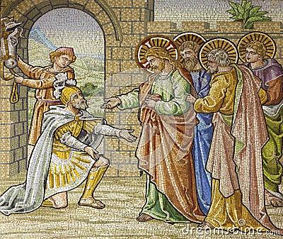 Milan - mosaic - Appeal Roman Soldier for Jesus