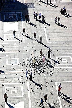 Milan Piazza Duomo Editorial Photo