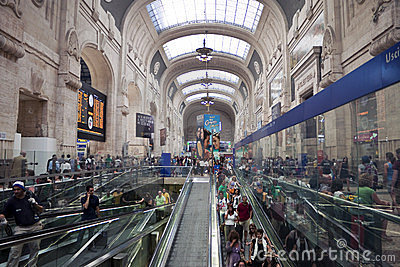 Milan railway station Editorial Image
