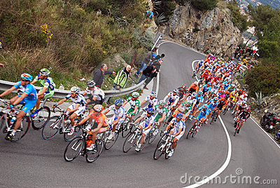 Milan-Sanremo Cycle Race 2008 Editorial Image