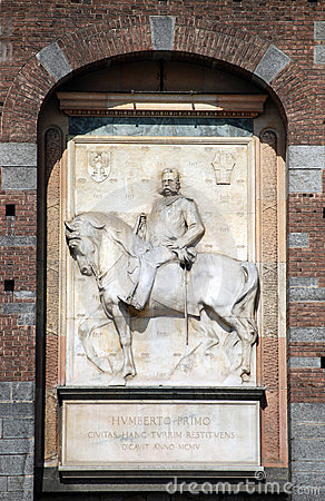 Milan - Statue of Umberto I at Sforza Castle