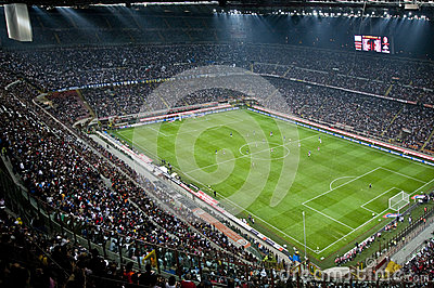 MILAN VS INTER Editorial Stock Photo