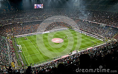 MILAN VS INTER Editorial Stock Image