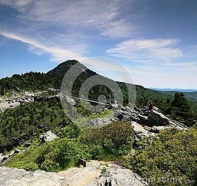 Mile High Swinging Bridge Linville NC Editorial Photo