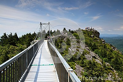 Mile High Swinging Bridge Linville NC Editorial Photography