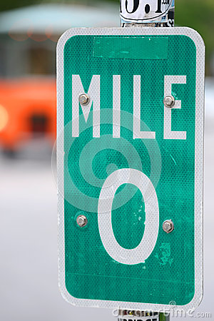 Mile Zero Sign in Key West, Florida