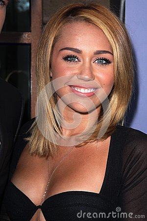 Miley Cyrus at the Australians in Film 8th Annual Breakthrough Awards, Hotel Intercontinental, Century City, CA 06-27-12 Editorial Photo