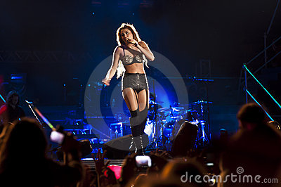 Miley Cyrus Gypsy Heart Show in Brazil Editorial Image
