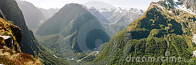 Milford track panorama, New Zealand