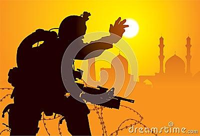 Militair in Irak