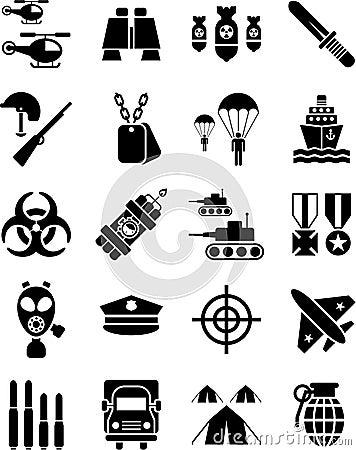 Militaire pictogrammen