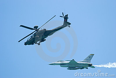 Military aircrafts at Singapore Airshow 2010 Editorial Stock Photo