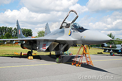Military airplane Mig-29 Editorial Stock Photo