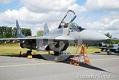 Military airplane Mig-29 Editorial Stock Photo