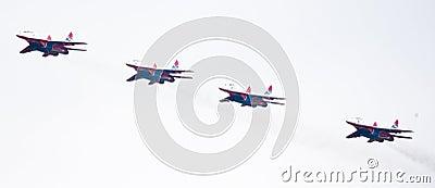 Military airplane su 27 Editorial Stock Photo