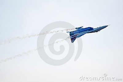 Military airplane su 27 Editorial Stock Image