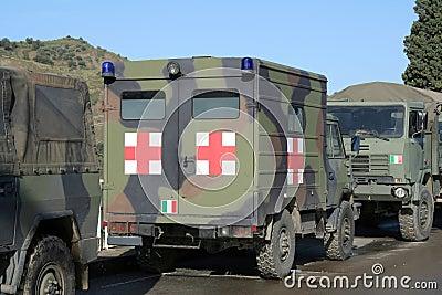 Military ambulance truck