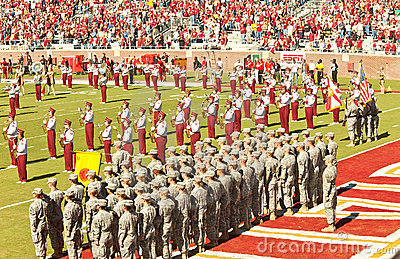 Military Appreciation Day at FSU Editorial Stock Image