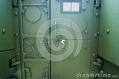 Military armed vehicle door