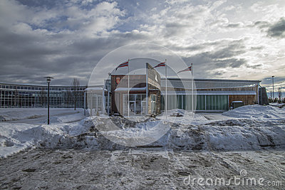 Military aviation museum, gardermoen Editorial Stock Image