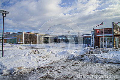 Military aviation museum, gardermoen Editorial Image