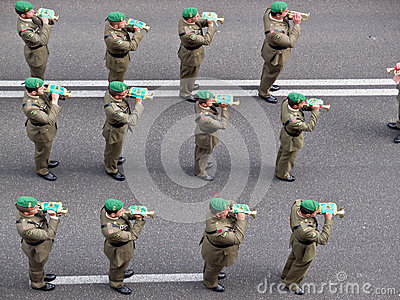 Military band Editorial Photography