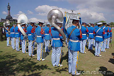 Military band playing Editorial Photo