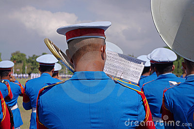 Military Band playing Editorial Photography