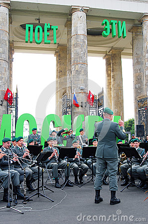 Military Band Tirol (Austria) performs in Moscow Editorial Photography