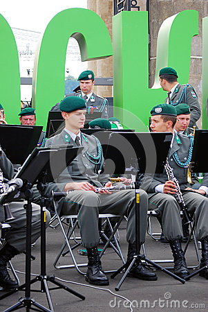 Military Band Tirol (Austria) performs in Moscow Editorial Image