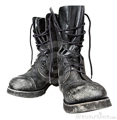Free Military Boots Stock Photo - 17497150