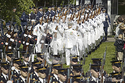 Military branches marching Editorial Image