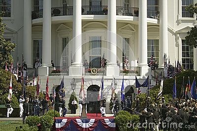 Military branches marching Editorial Stock Image