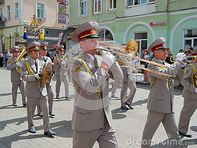 Military brass band performing Editorial Photo