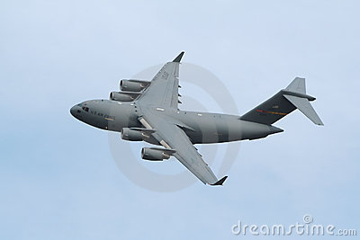 Military C17 USAF transport plane Editorial Stock Photo