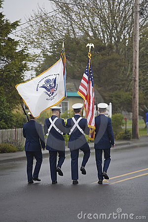 Military Color Guard Marching