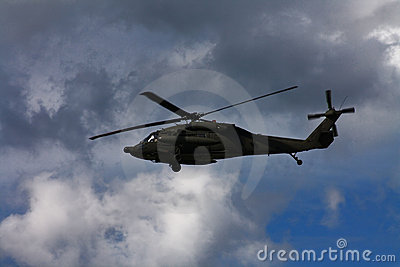 Military combat helicopter