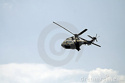 Military Cougar helicopter