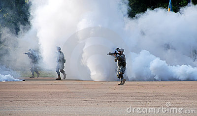 Military Demonstration  Editorial Photography